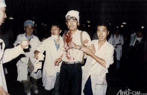 89年6月3日晚10时前,开枪命令下达,从西长安街军事博物馆前集结出发的38集团军最先开枪杀人,航天部第2研究院283厂工人宋晓明于晚10时在五棵松路口行人道被113师军人射杀